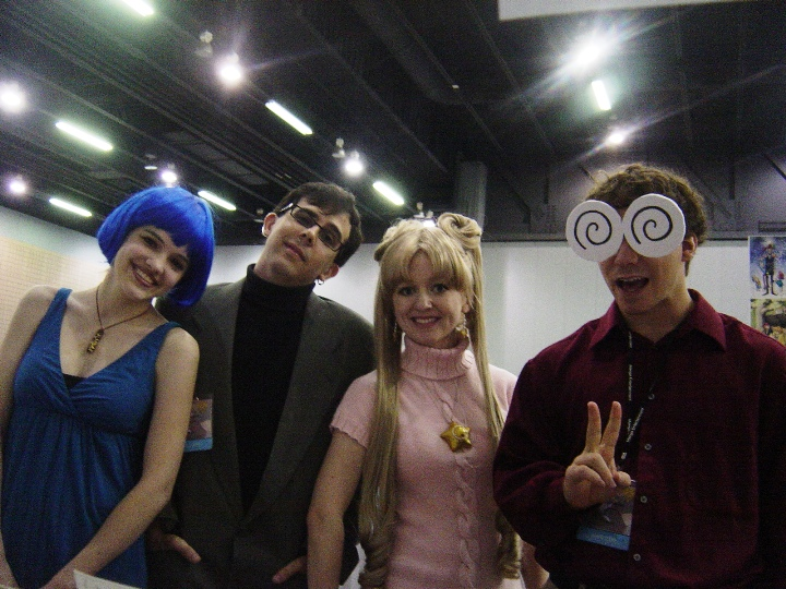 I was surprised to see my friend Kyle there (Mamoru) along with his fiancee (Amy) and some friends (Usagi and Melvin). I've never seen anyone cosplay Melvin so that was kind of awesome?