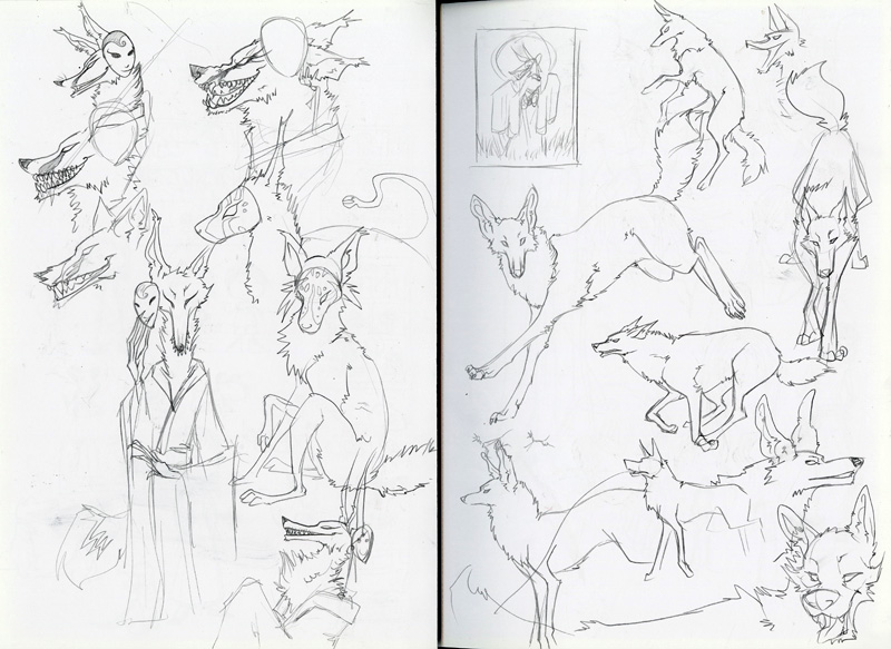 Monster Masquerade sketches 2