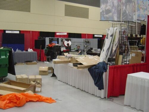 Dealer's Room setting up