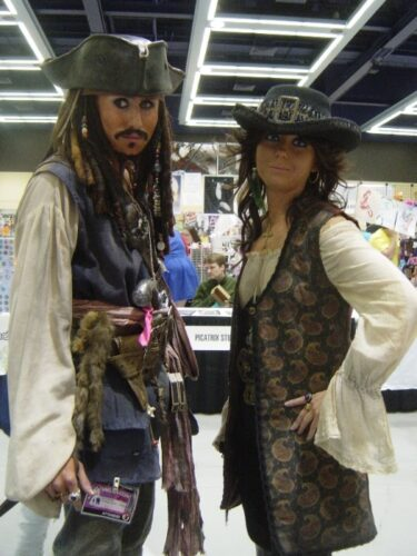 Captain Jack and that chick from the fourth movie that I still haven't seen, I guess!