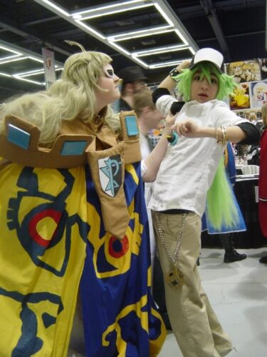 It is pretty awesome when cosplayers get into their characters like this~.
