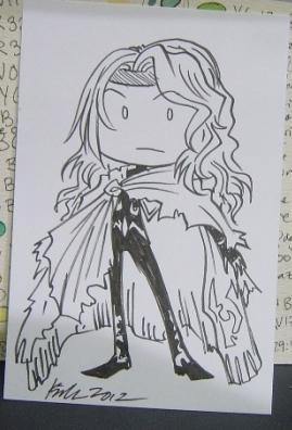 Ink sketch card commission