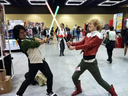 Tiger and Bunny~. Men cosplaying men! IMAGINE THAT.