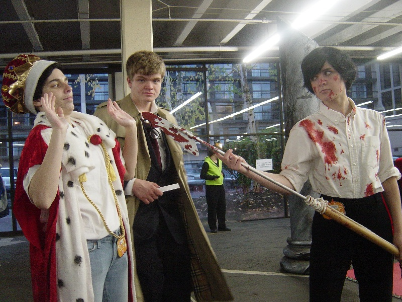 Sherlock about to harpoon Moriarty to break up the textwall.
