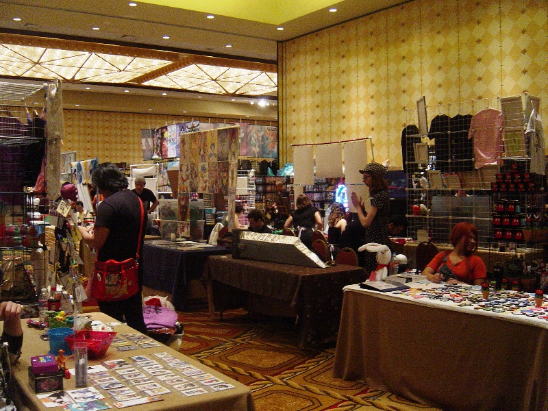 General shot of Artist Alley.