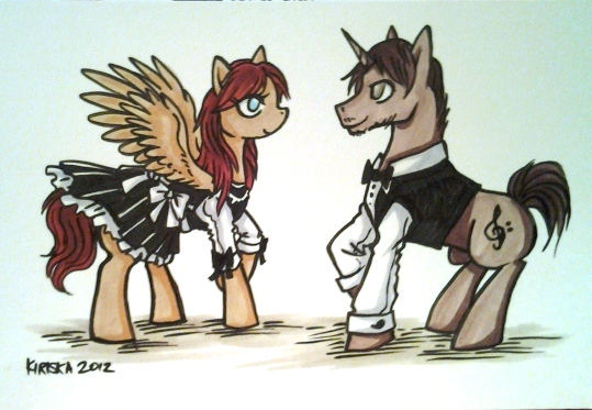 Stacy and Michael as ponies. ;)