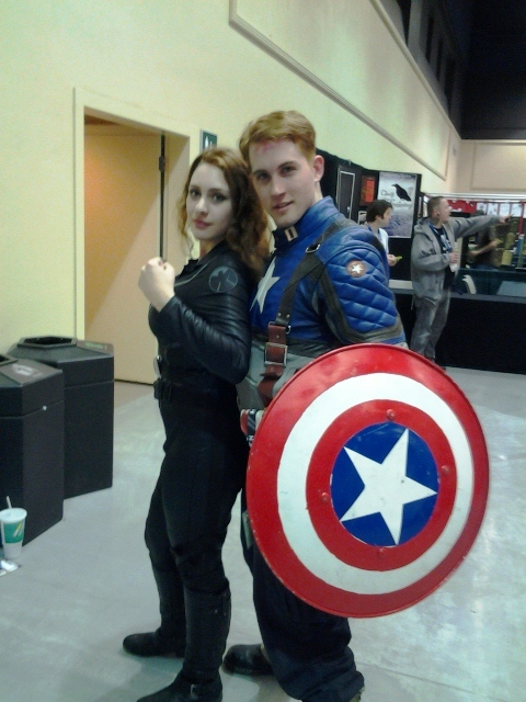 Black Widow and Captain America.