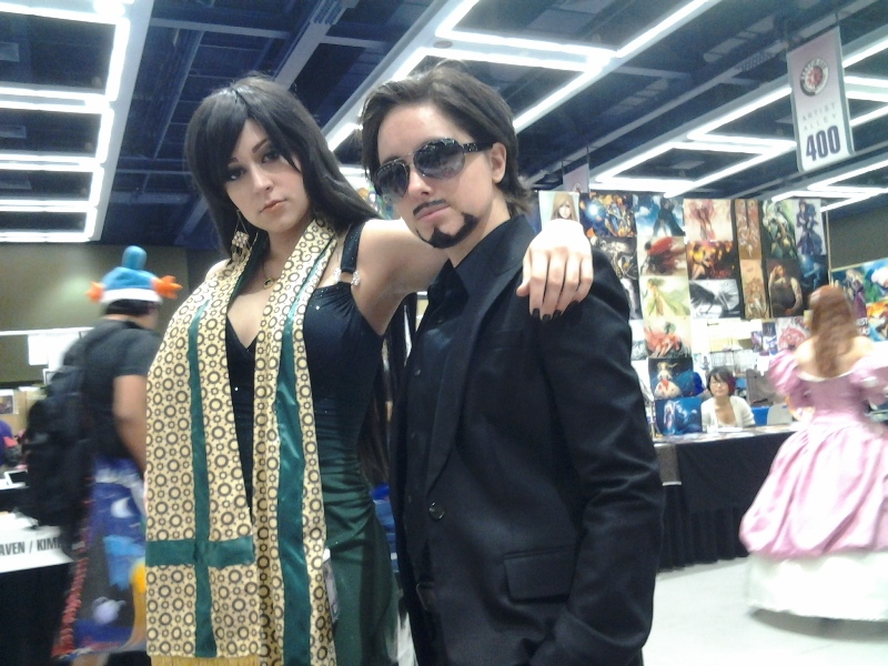 Genderbent Loki and Tony Stark.