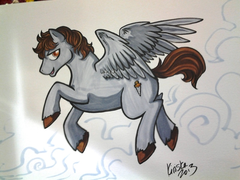 Full page pony commission.