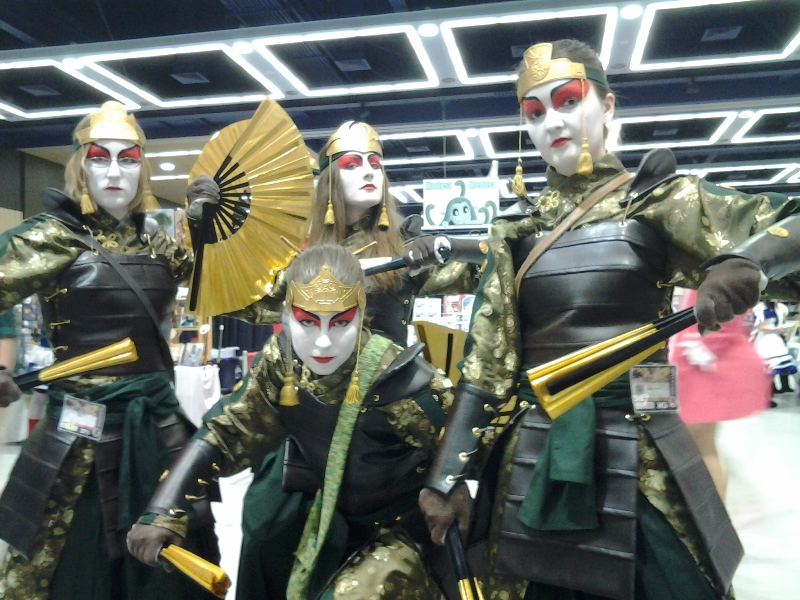 There were five Kyoshi Warriors, but one of them was missing for this photo. D;
