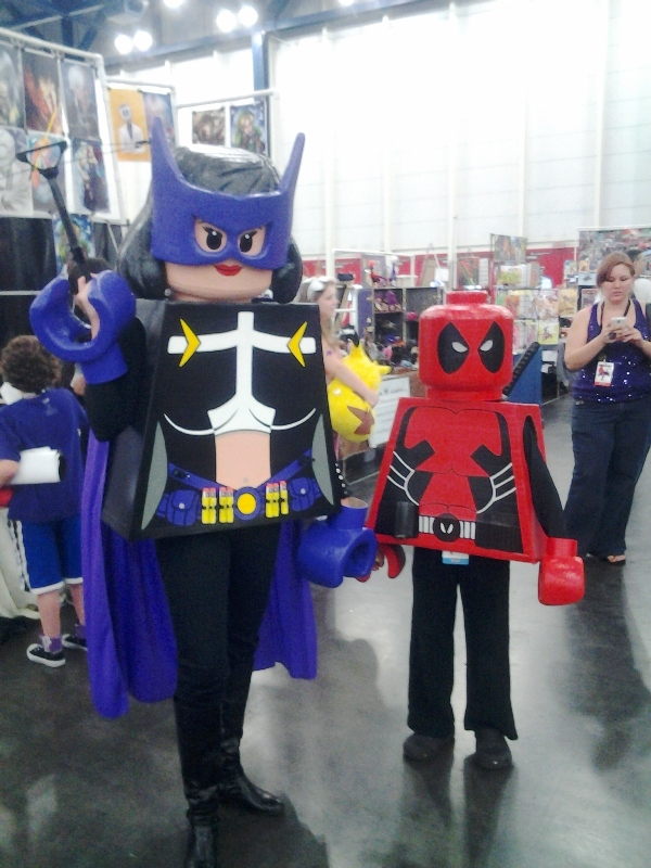 Lego Hawkeye and Deadpool.