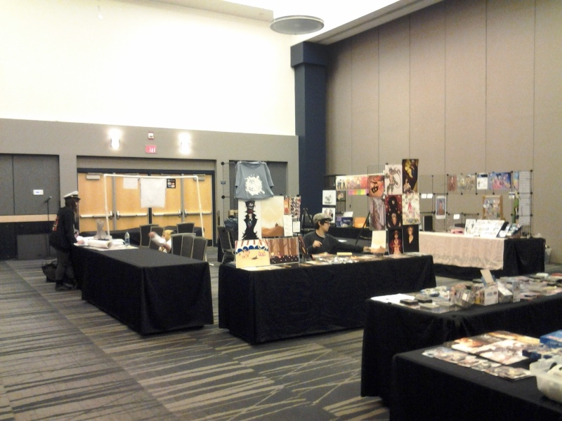 Xib setting up in Artist Alley.