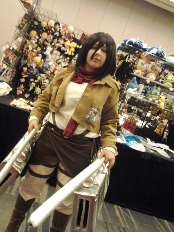 The only Attack on Titan cosplayer I saw all weekend. ; 3 ;