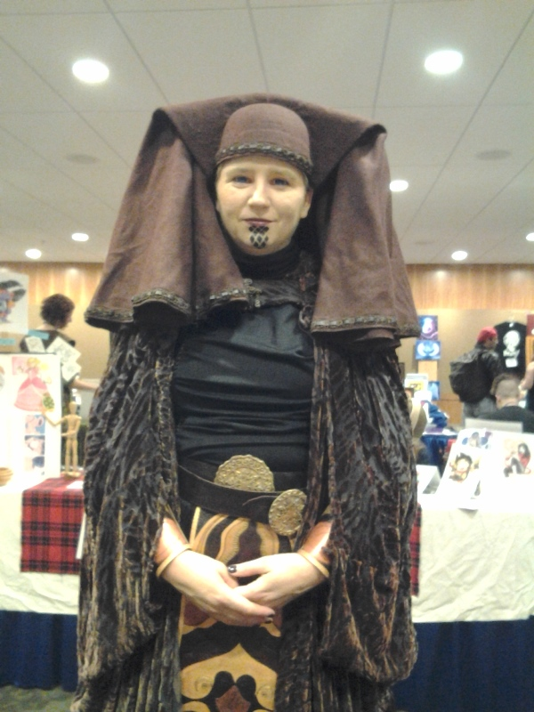 I dunno who this is, but she looks cool. (Something from Star Wars, she said?)