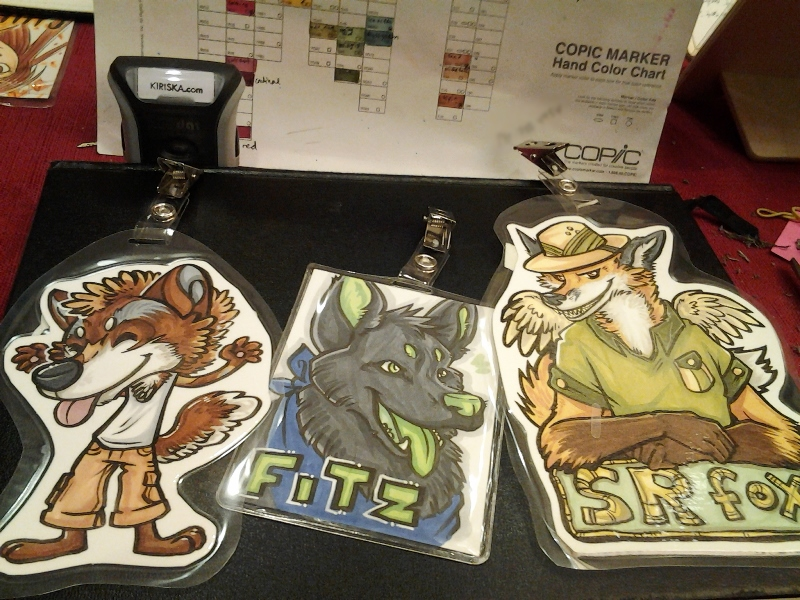 Various finished badges!