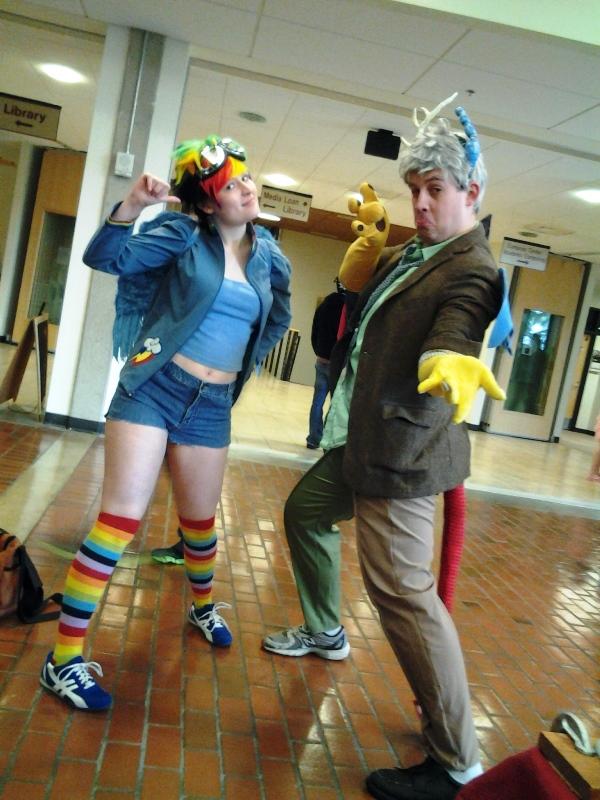 Rainbow Dash and Discord.
