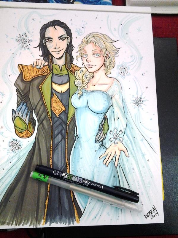 Loki and Elsa. :D
