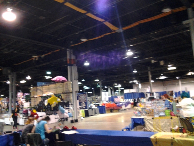Exhibit Hall setup.
