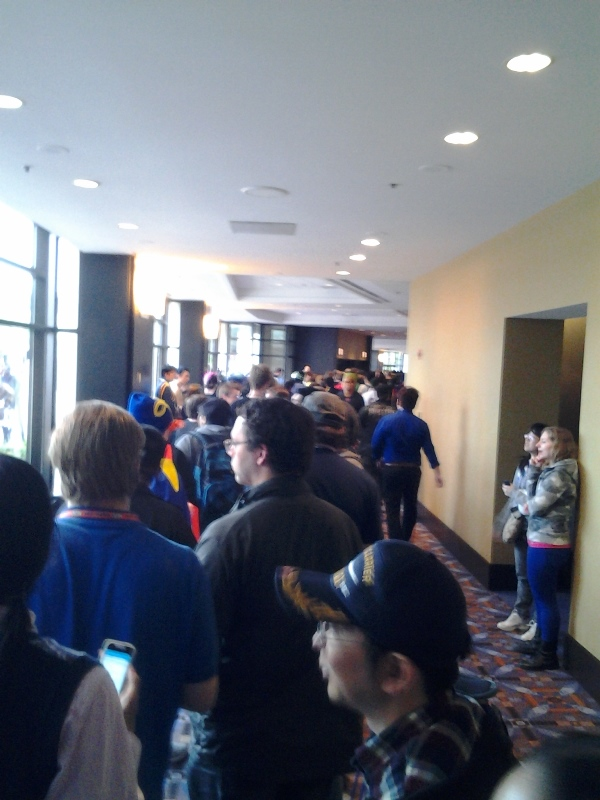 Line for angela outside the Rosemont Ballroom.