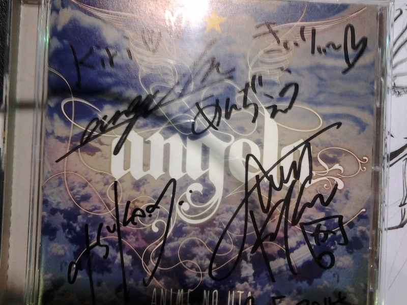 Signed angela CD. ;3;