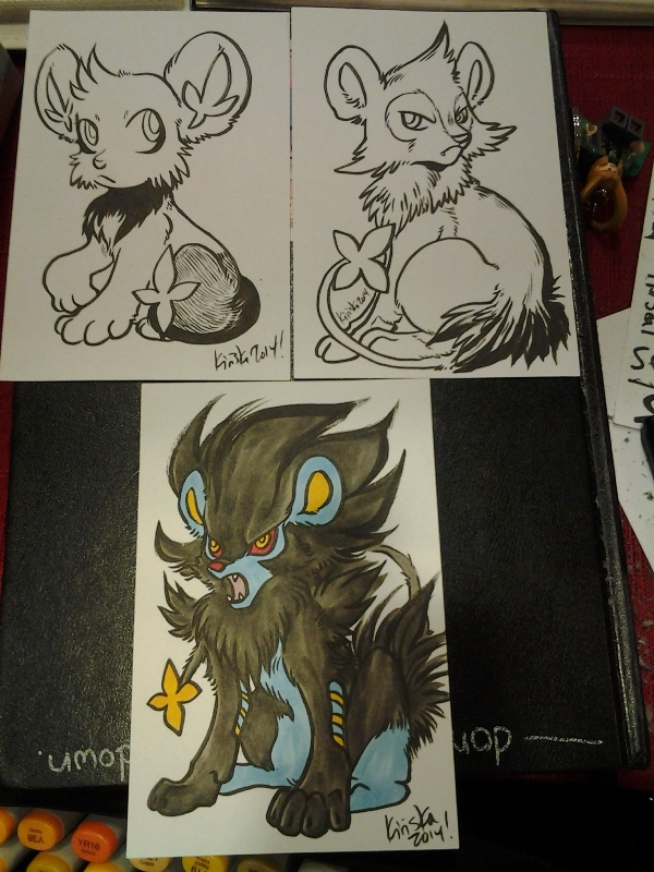 Shinx family sketch card commissions!