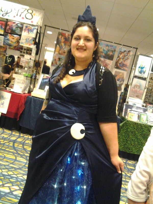Look at the glowing stars on that dress, dang.