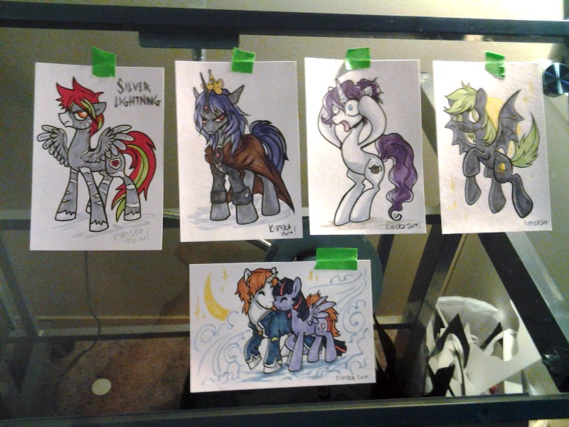 All the colored sketch cards from Saturday night.