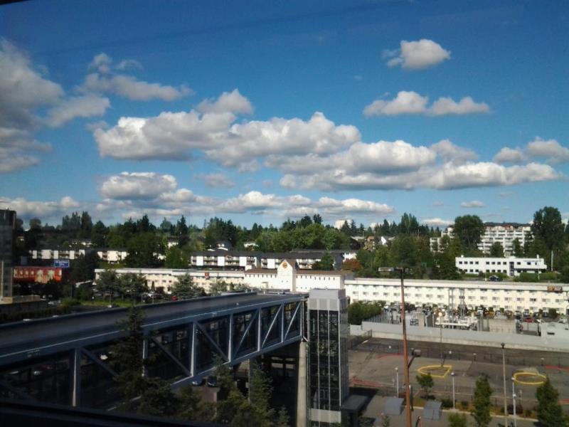 Magrittte clouds over Seatac as I catch the lightrail home.