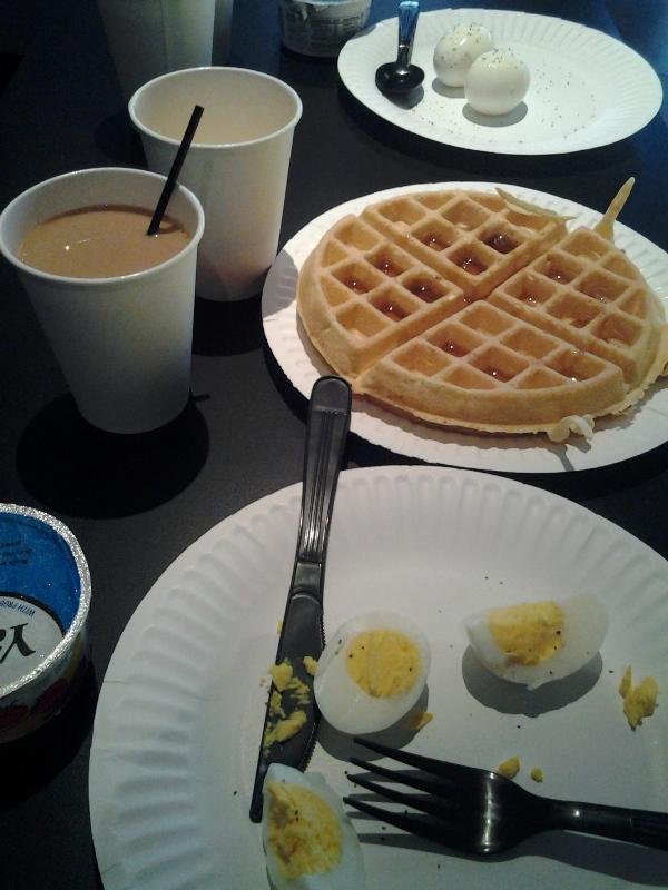 Hotel breakfast.