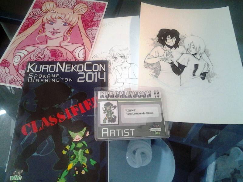 KuroNekoCon swag.