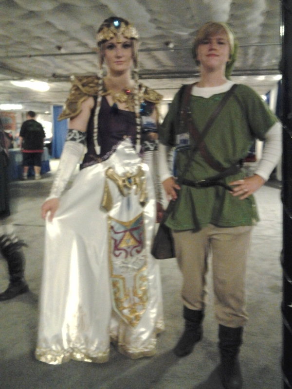 Zelda and Link. Lighting to the side of our table was much better since the printwall wasn't blocking any of it.