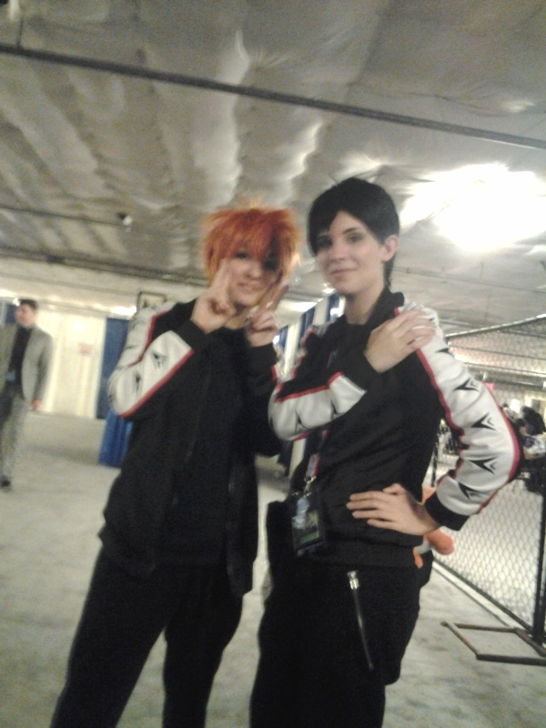 The Hinata and Kageyama from Friday were Momo and Sousuke on Saturday! XD