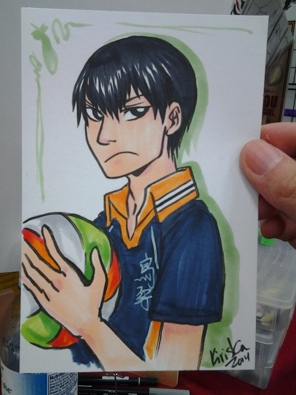 The Nishinoya cosplayer from KNC commissioned me for this Kageyama for her friend. ;3;
