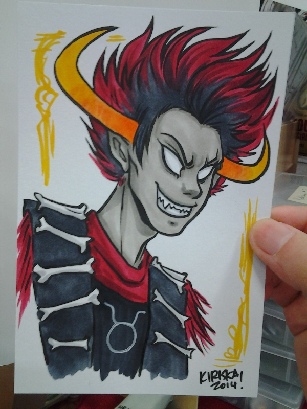 Half my commissions for the weekend came from one nice Homestuck who really wanted portraits of her favourite characters.