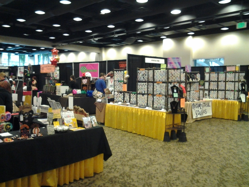 Exhibitor's Hall at Geek Girl Con.