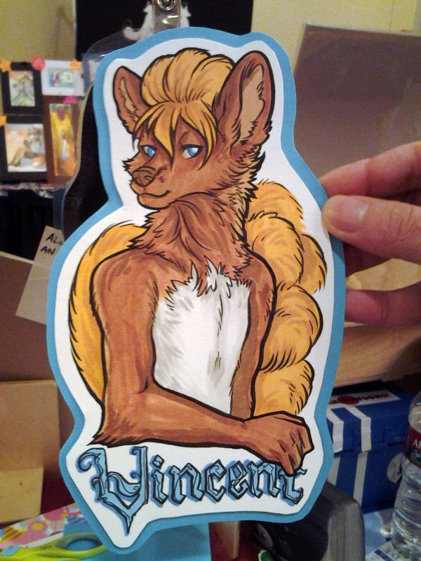 Large con badge!