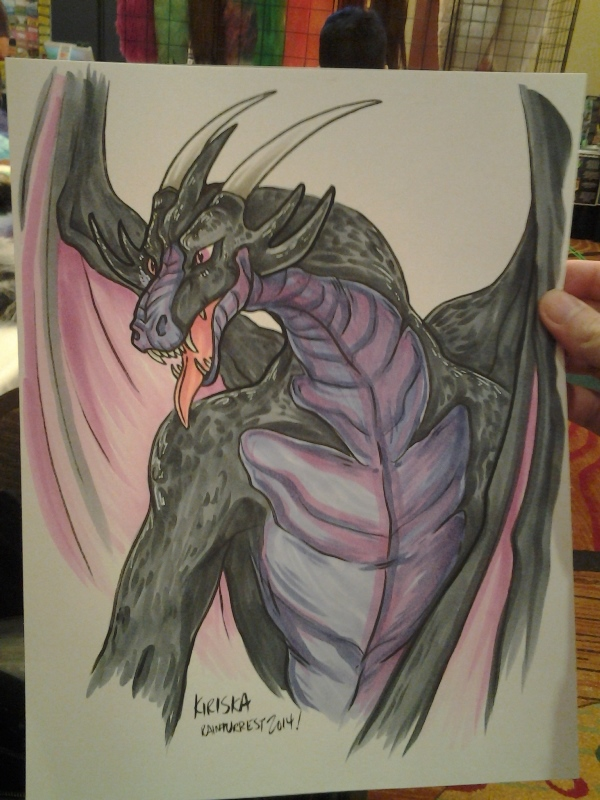 Full page color commission. Another of many dragons.