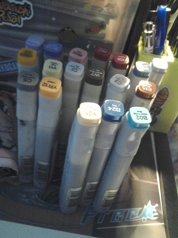 The number of markers I needed to refill post-con.