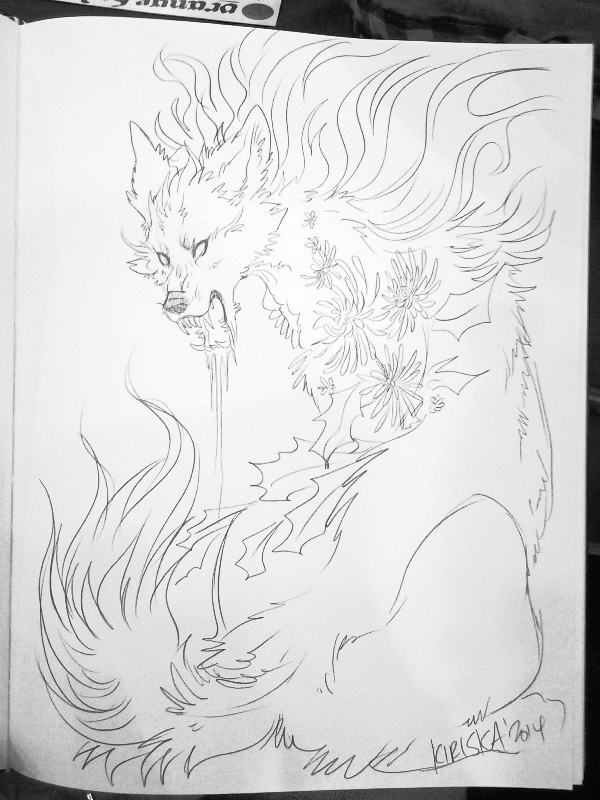 Pencil sketch in sketchbook commission.
