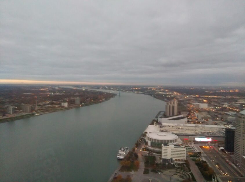 View from our hotel in Detroit!