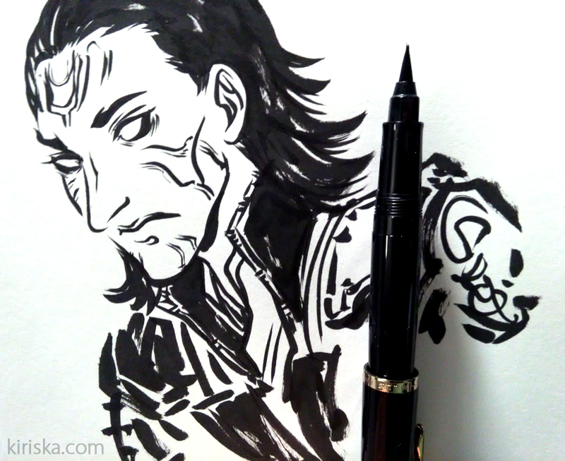 Jotun!Loki doodle.