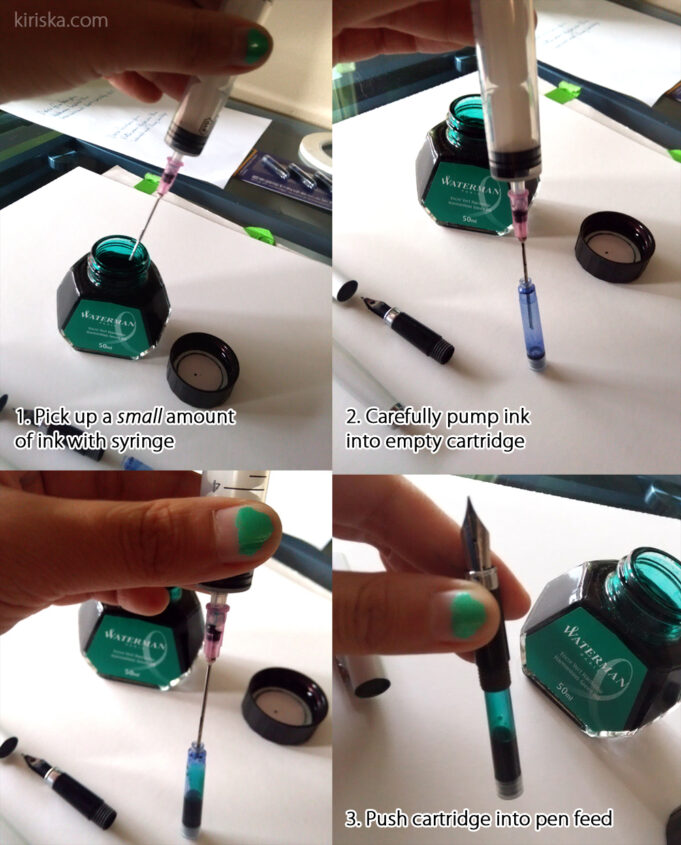 How to syringe-fill your pen cartridge!