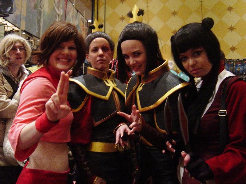 Ty Lee, Zuko, Azula, Mai.
