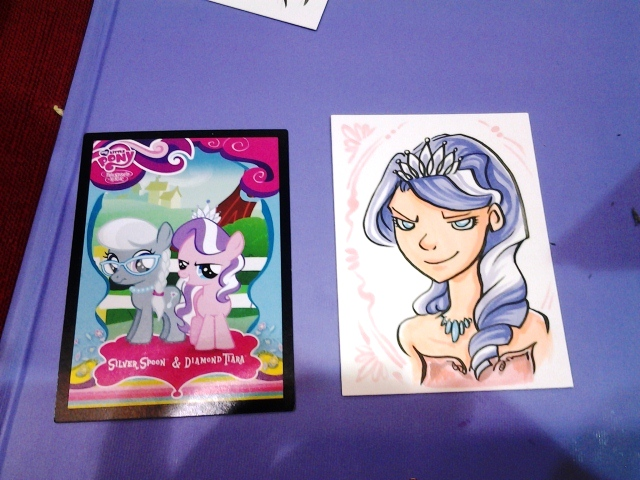I said got these pony cards for reference, and I'm stickin' to that.