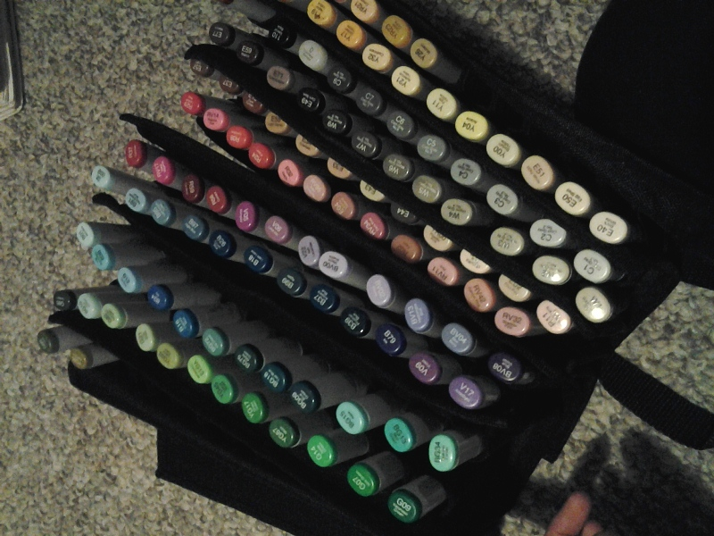 I'm gonna need to buy that Copic suitcase soon, aren't I.