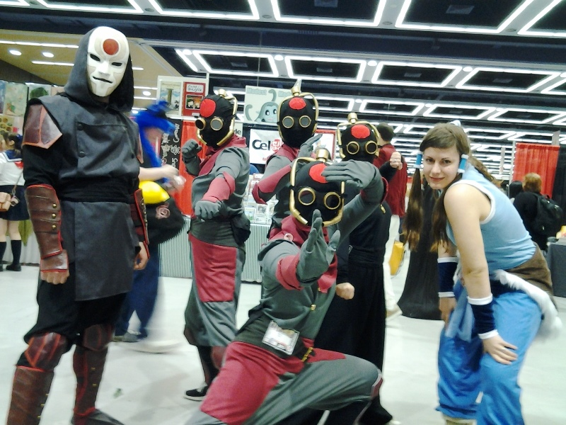 Amon, some equalists, and Korra.