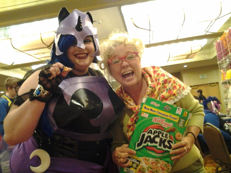 When it wasn't cider season, Granny would wander around giving people Applejacks. XD