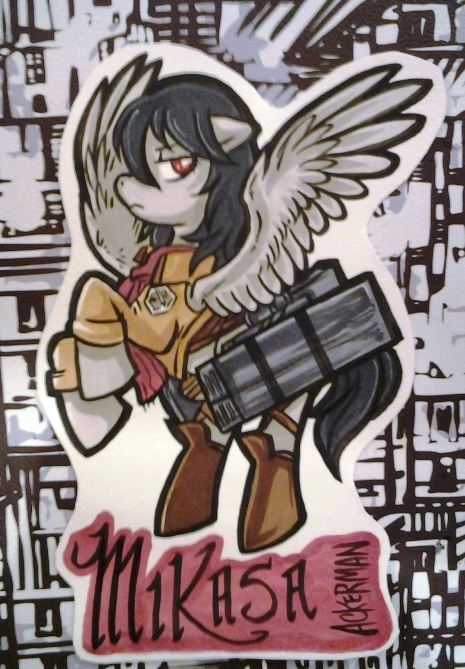 Badge commission example (WHY YES I have been obsessing a little over Attack on Titan how did you know).