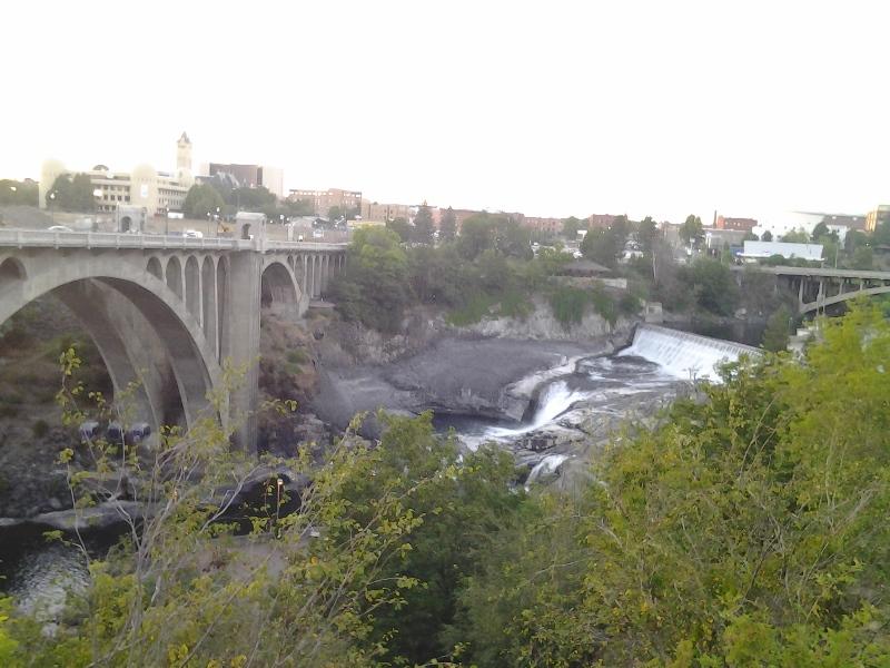 Spokane Falls?? Spokane's weather reminded me disturbingly of Houston's, but at least Spokane is prettier, I guess.