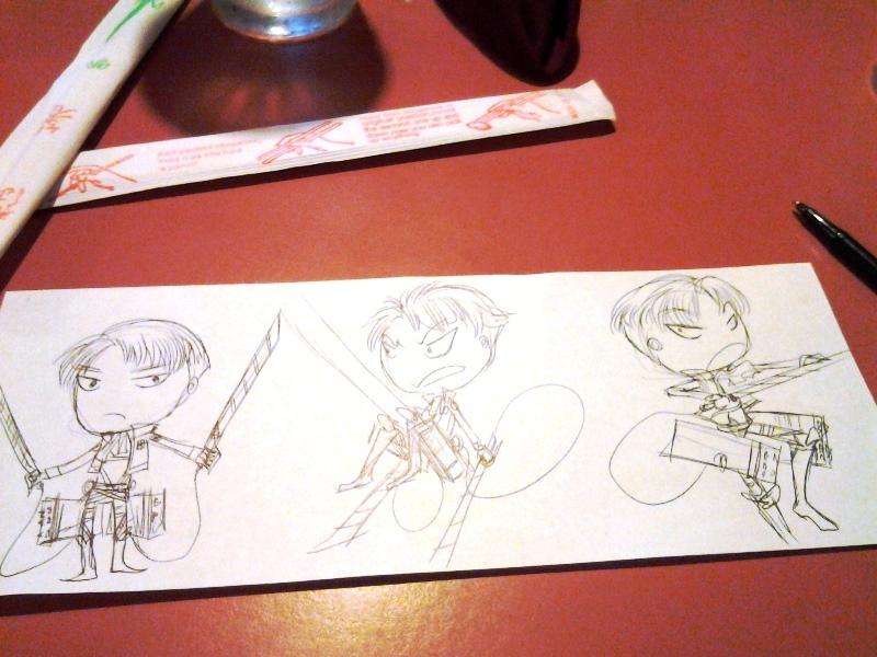I doodled at dinner too.